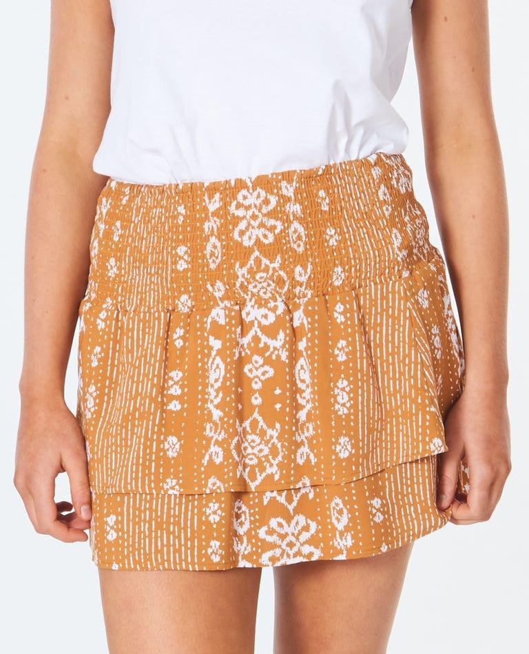Surf Shack Mini Skirt in Honey