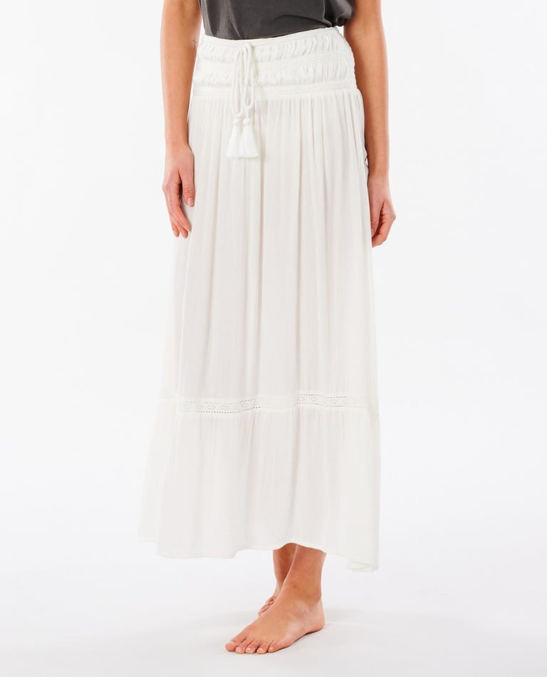 Layla Maxi Skirt in White