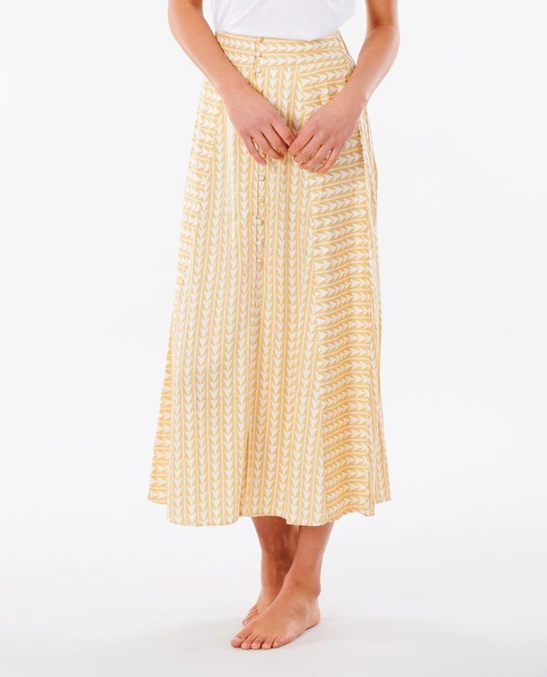 Geo Skirt in Gold