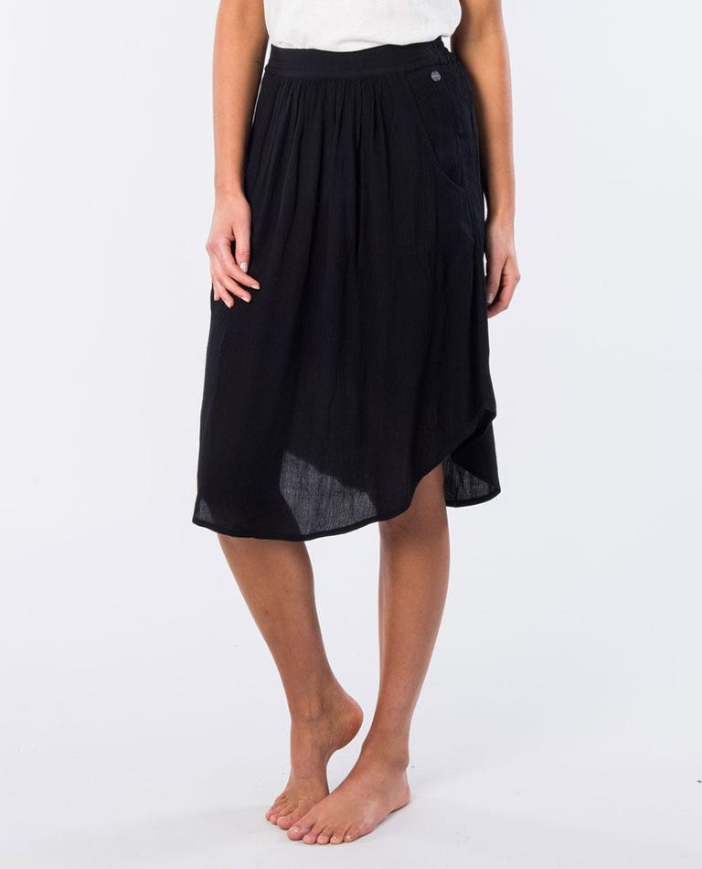 Kelly Mid Skirt in Black