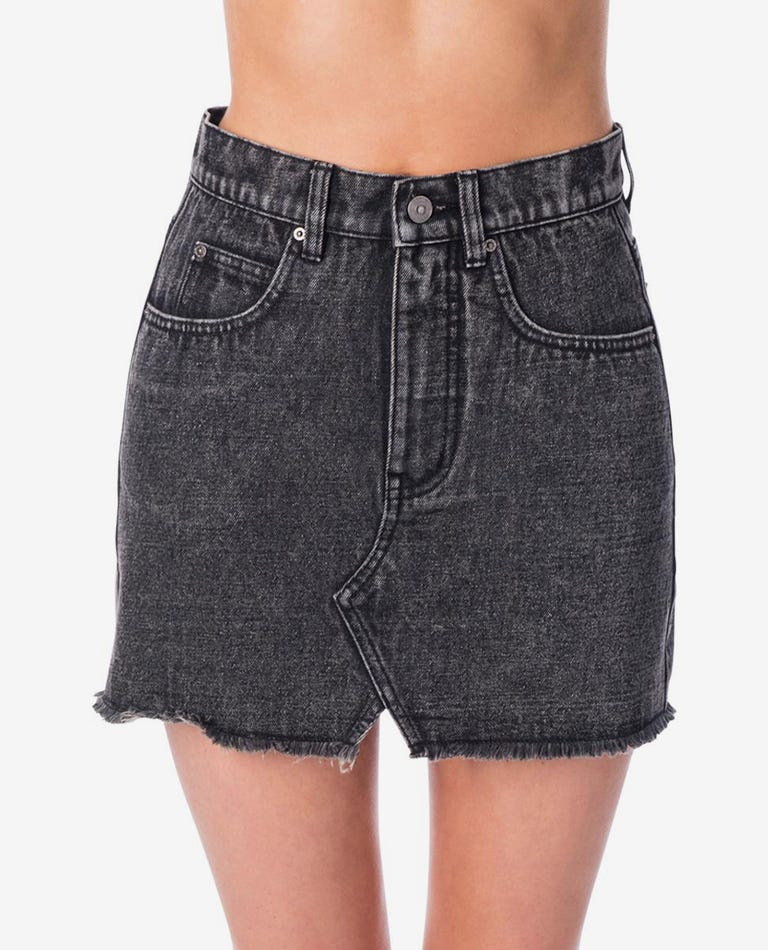 Vixen Skirt in Washed Black
