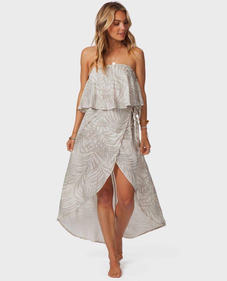 Shorelines Wrap Skirt in Off White