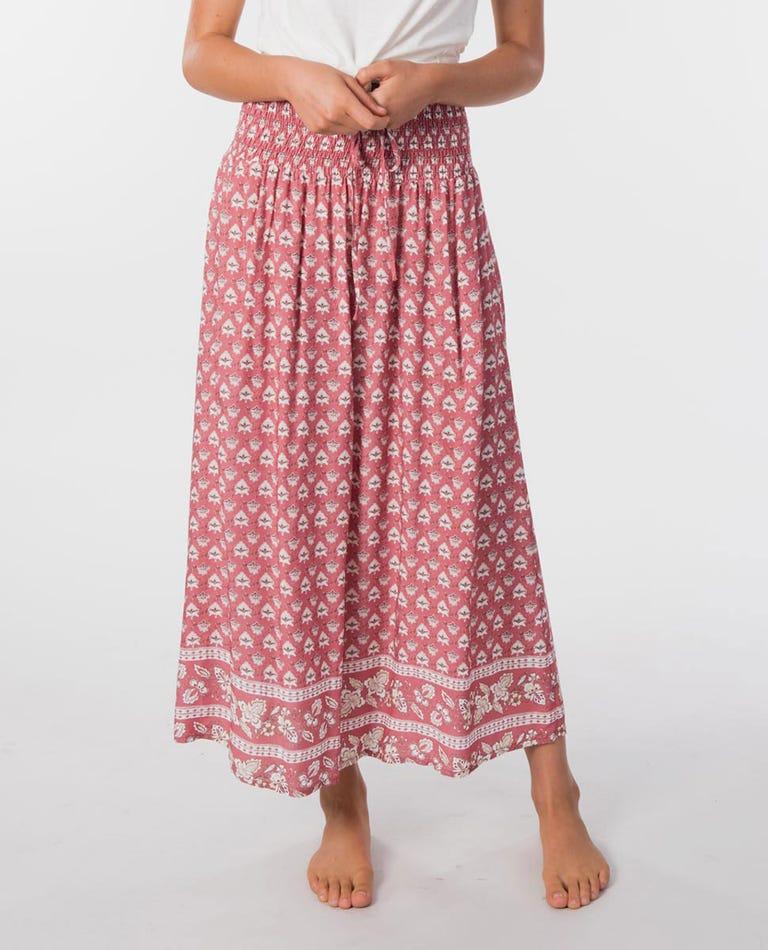 Blanca Beach Skirt in Dusty Rose