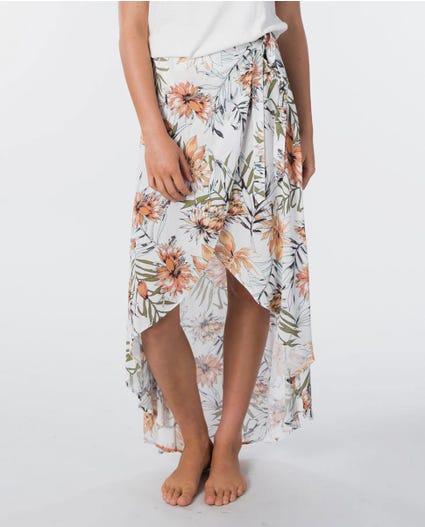 Playa Blanca Wrap Skirt in White