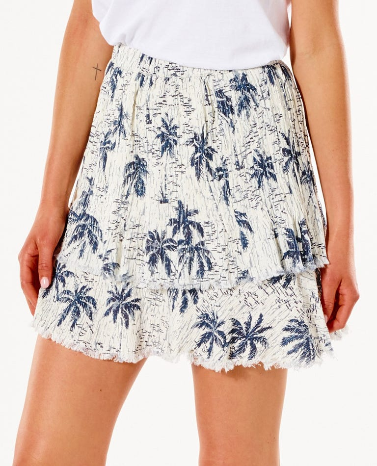 Tropics Mini Skirt in Bone