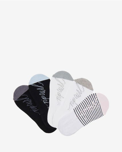 Plains Invisible Sock - 5 Pack in Multico