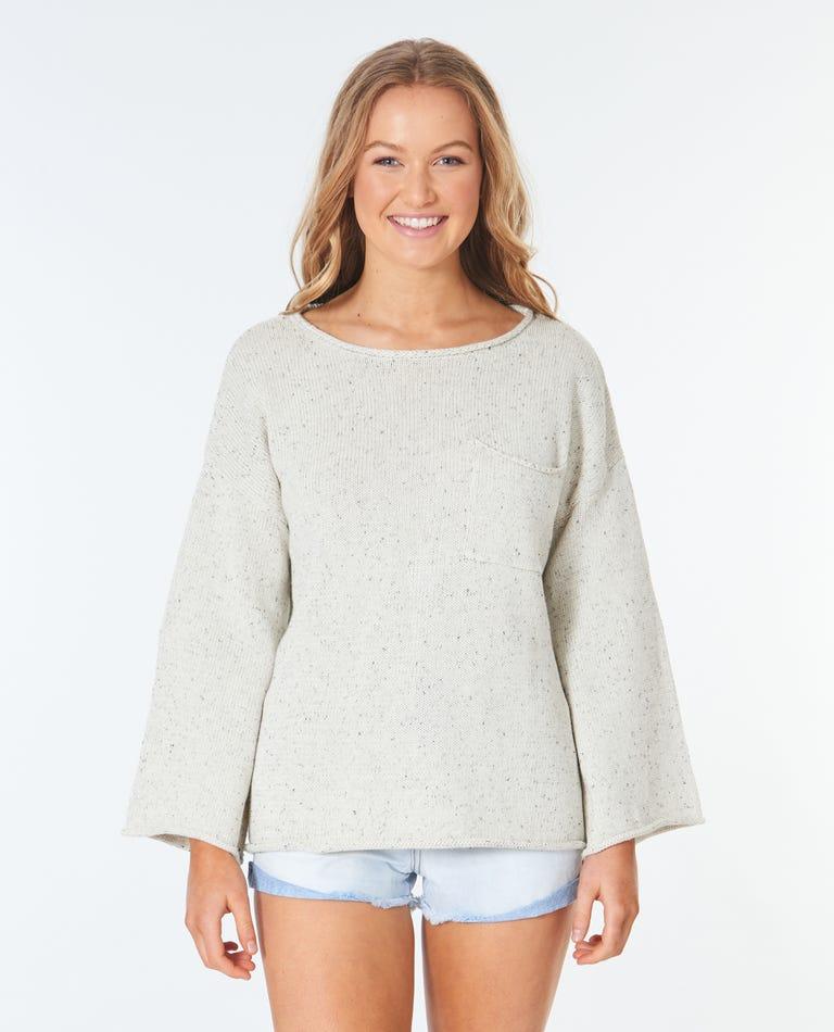 Surf Shack Sweater in Bone