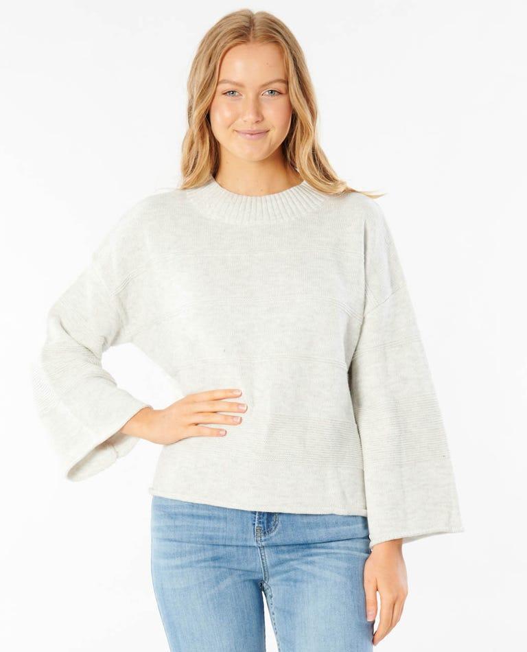 Sun Rays Sweater in Bone