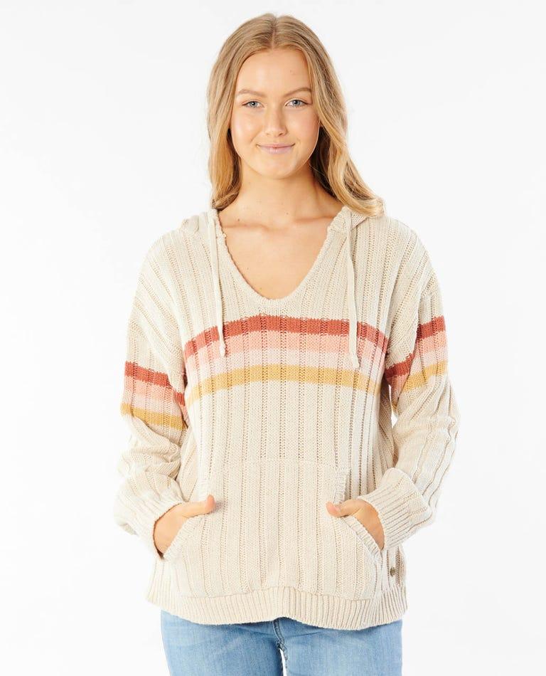 Sunshine Stripe Sweater in Bone