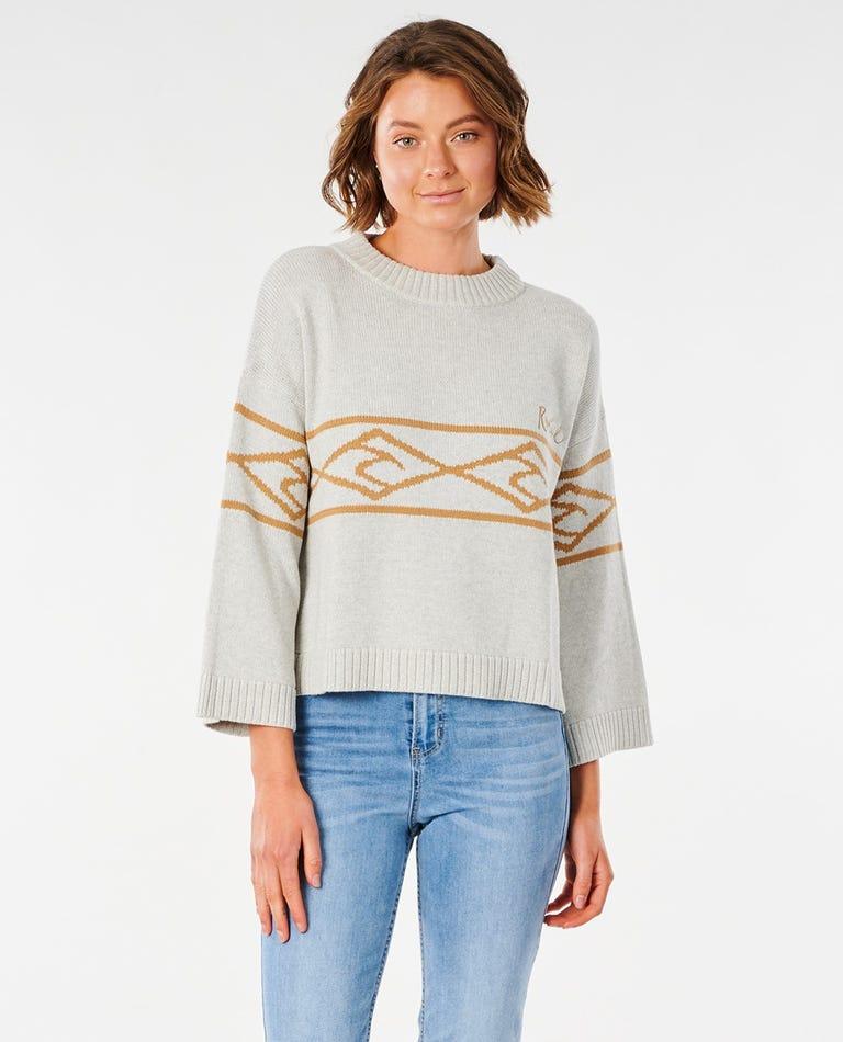 Wipe Out Sweater in Bone