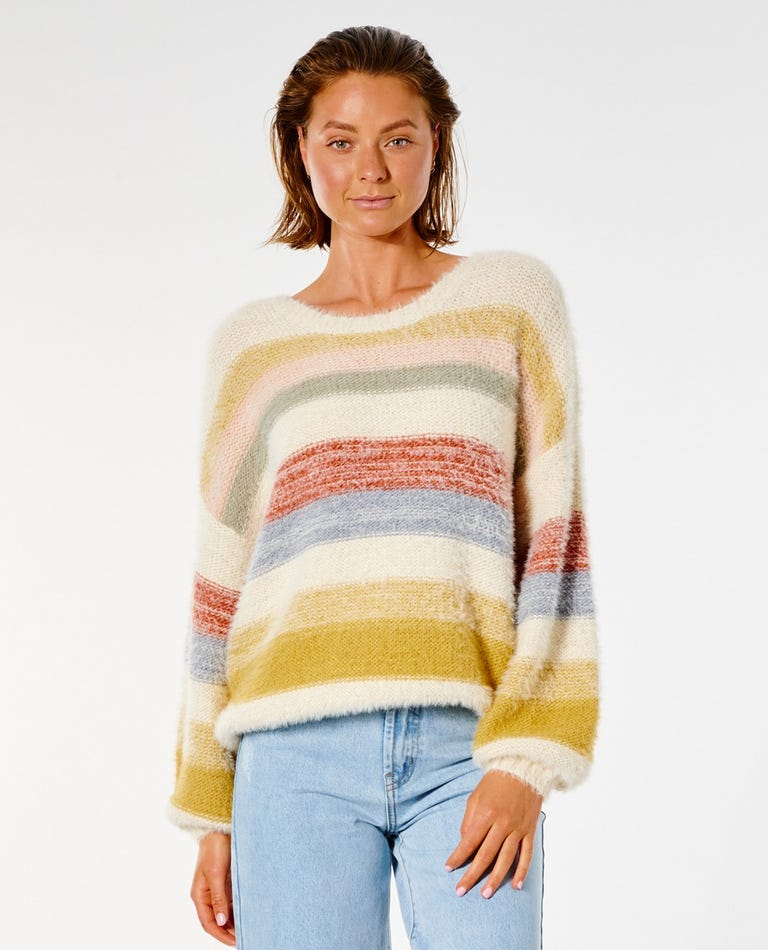 Sunset Waves Sweater in Multico