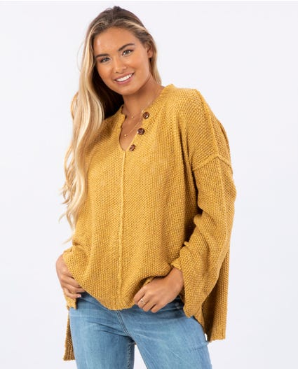 Easy Going Pullover in Mustard