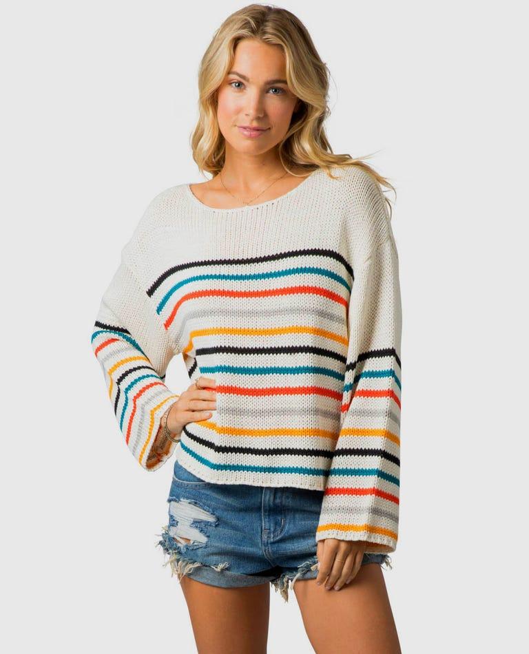Golden Haze Crew Sweater in Vanilla