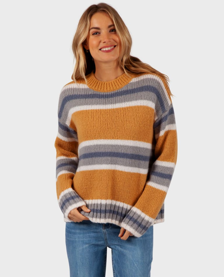 Cosy Outdoors Sweater in Mustard