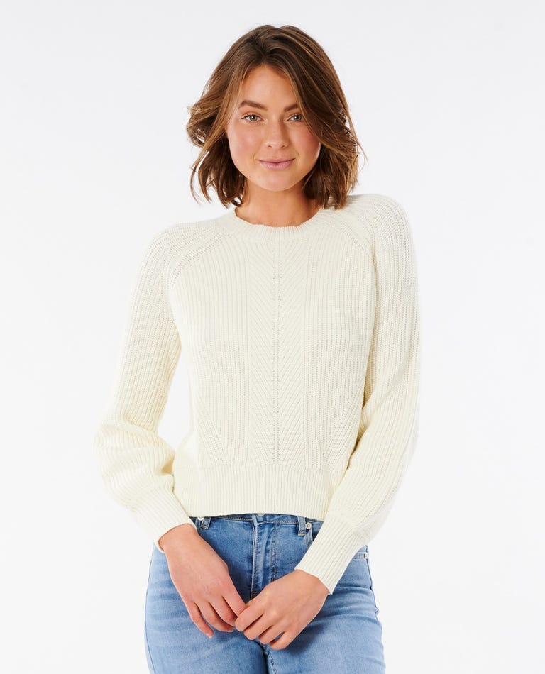 Coco Cotton Relaxed Fit Top in Bone
