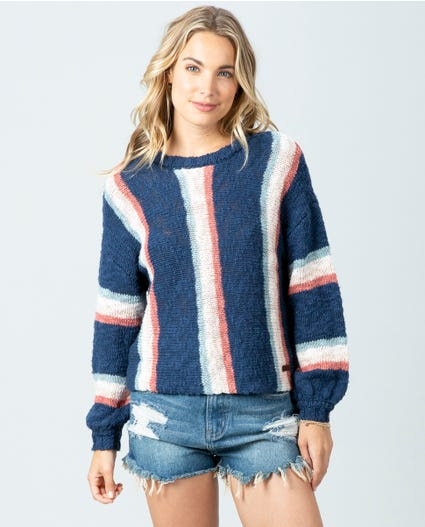 Keep On Surfin Sweater in Dark Blue