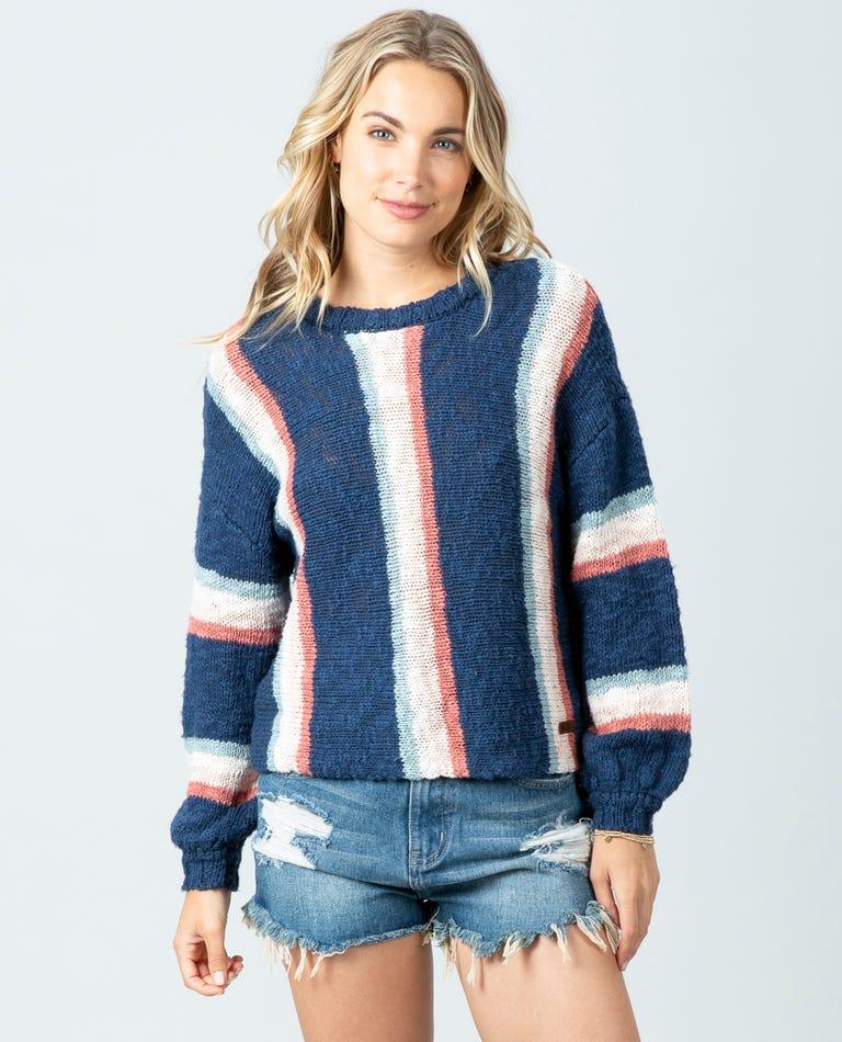 Keep On Surfin Sweater in Dark Blue