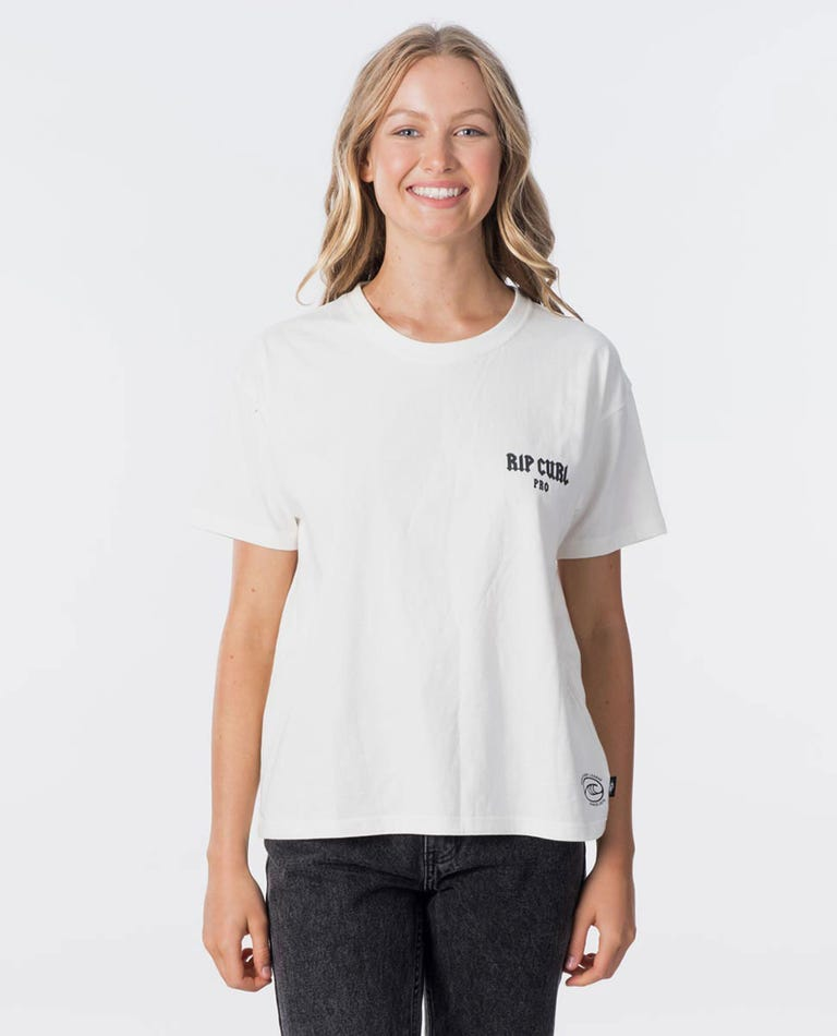 Ring The Bell Tee in Off White