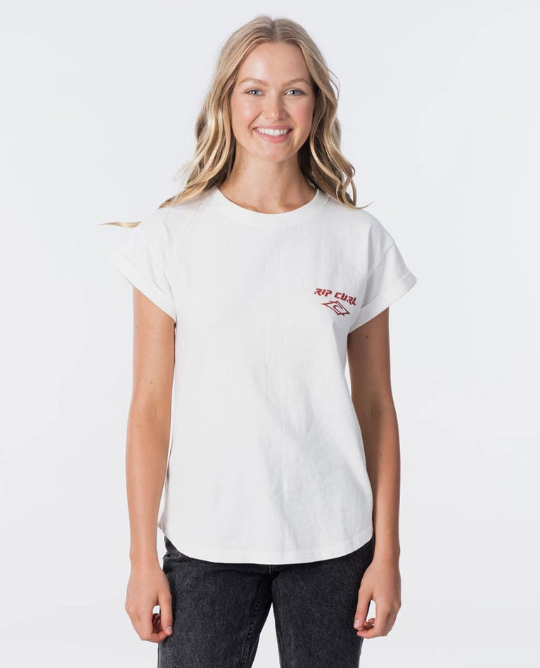 Heritage Tee in Off White