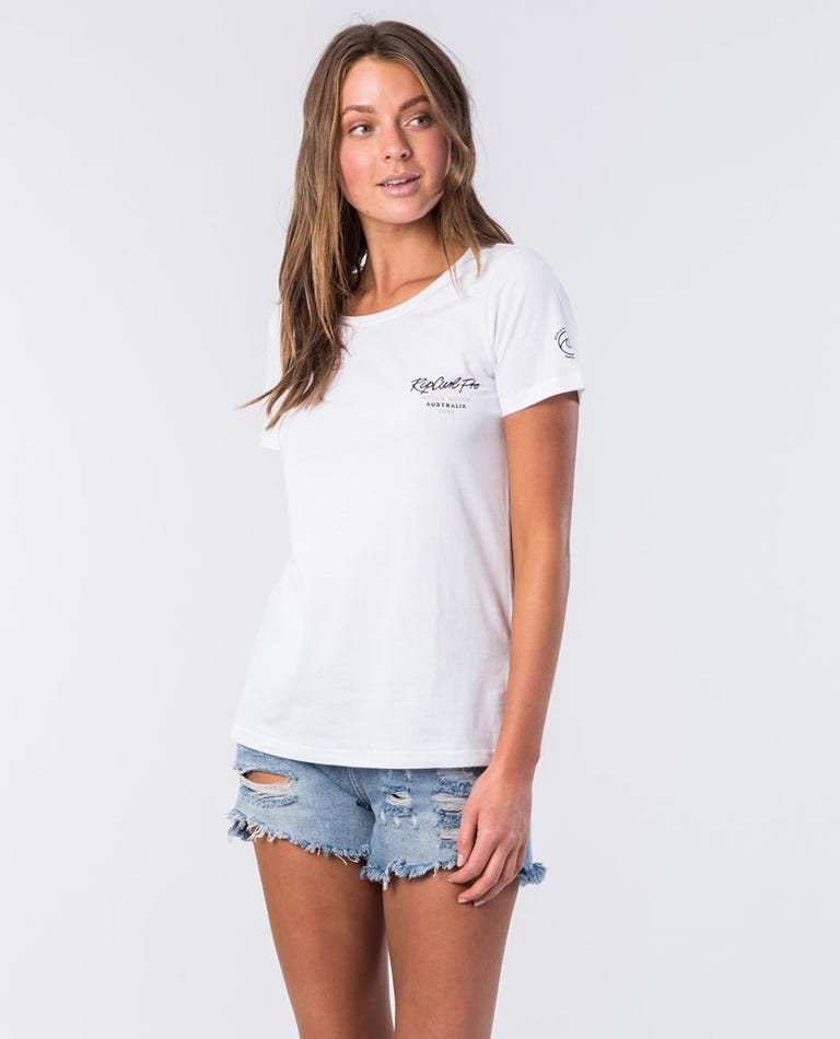 Bells Cotton Tee in White
