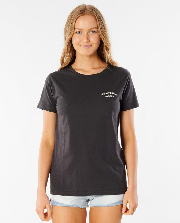 Rip Curl Australia Tee in Washed Black
