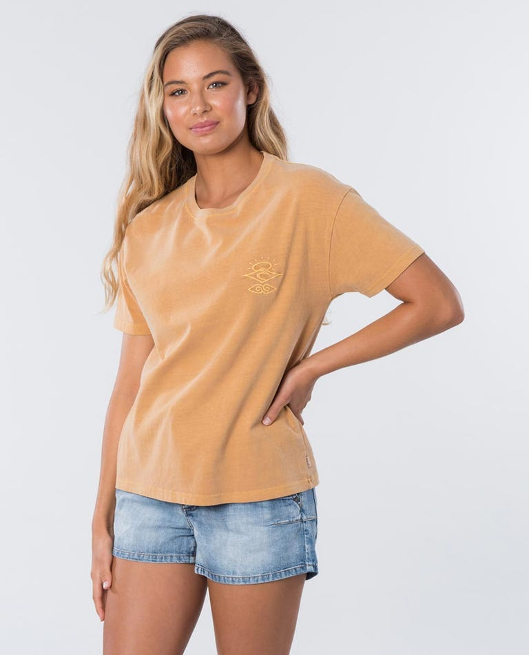 The Searchers Tee in Mustard