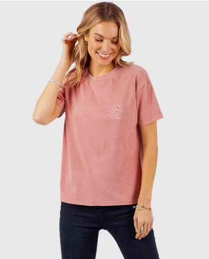 The Searchers Tee in Dusty Rose