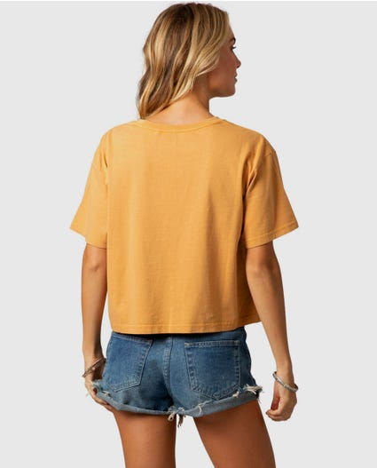 Island Sands Crop Tee in Mustard