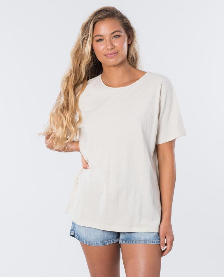 The Keep Searching Tee in Stone
