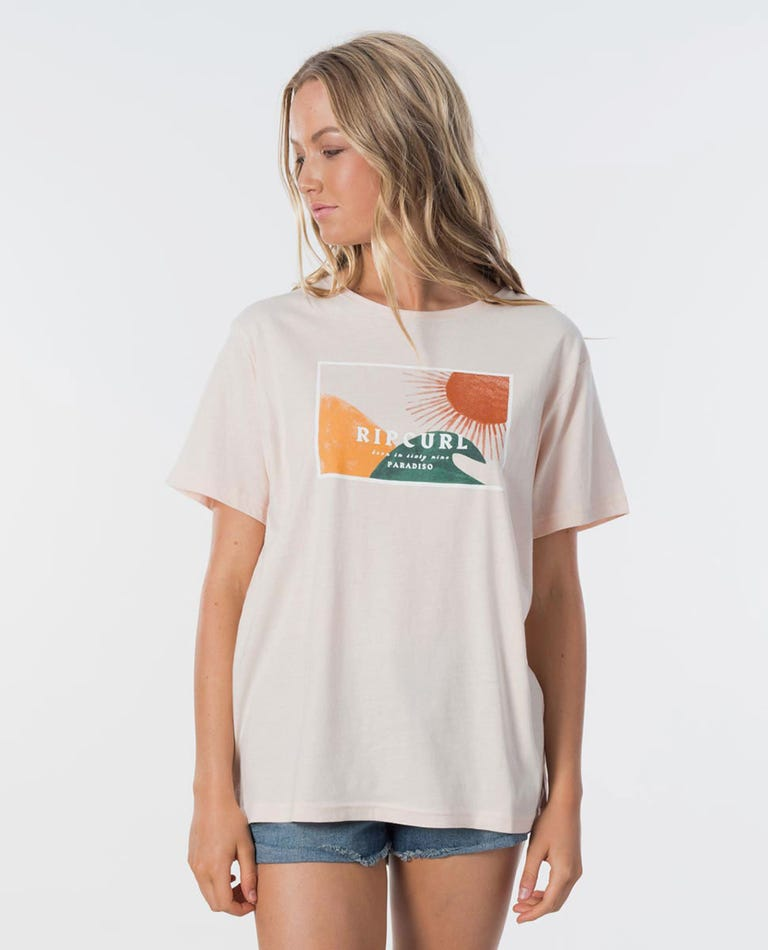 Sunset Cove Tee in Light Pink