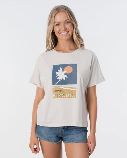 Sunsetters Tee in Stone