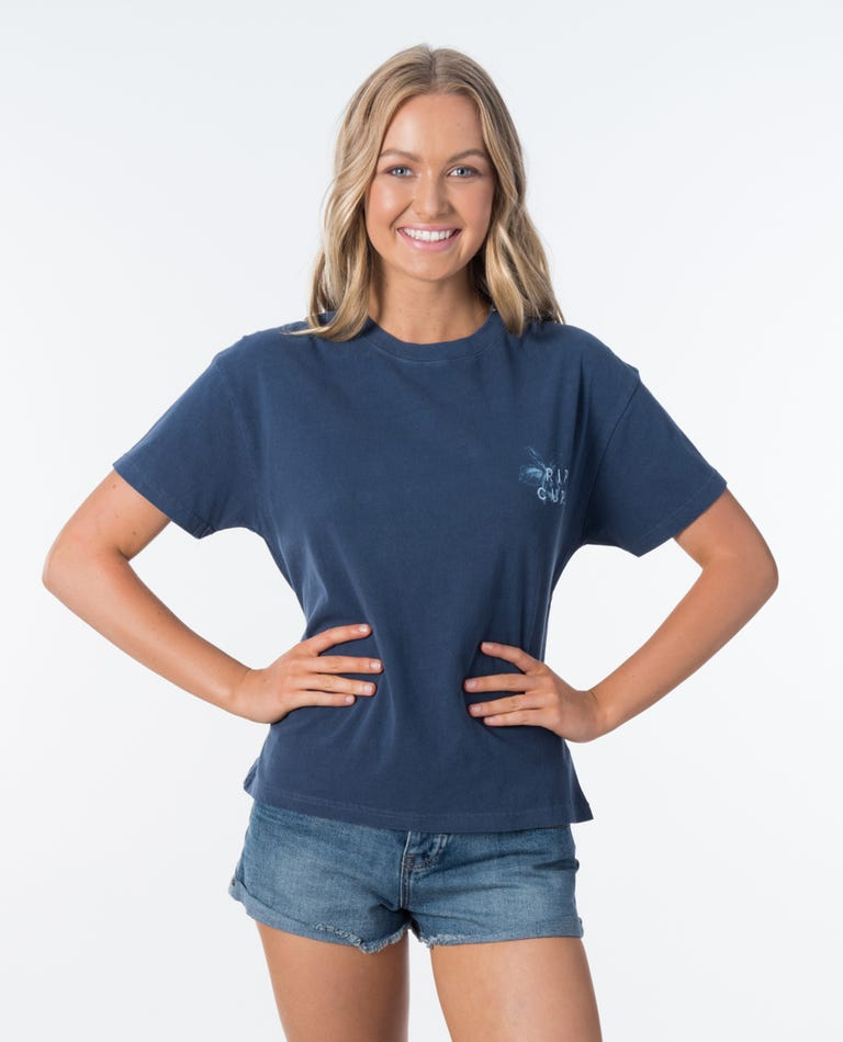 Rip Curl World Tee in Dark Blue