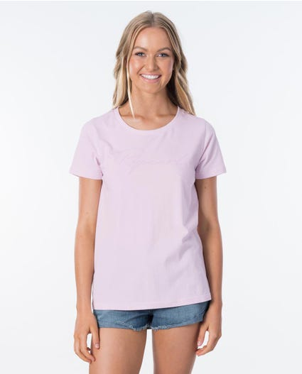 Freestyle Logo Tee in Lilac