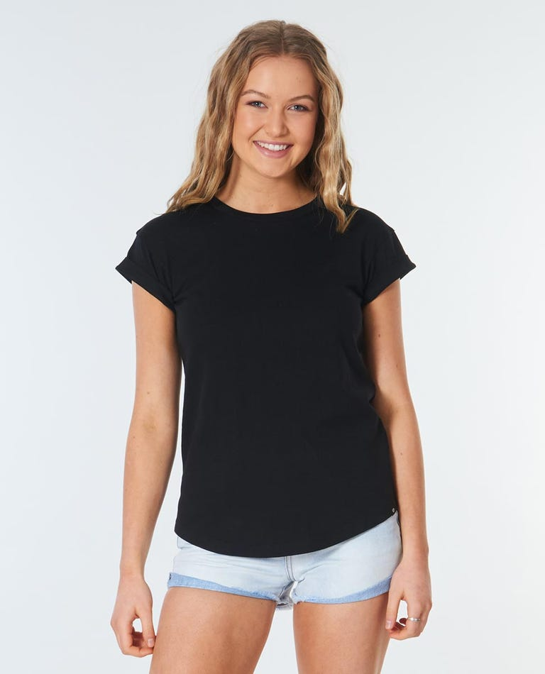 Plains Rolled Tee in Black