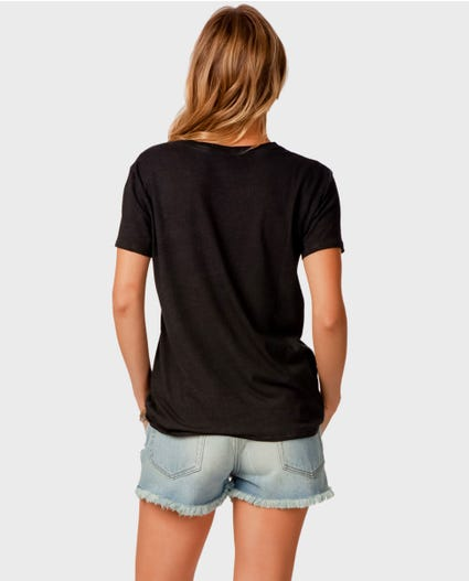 Beach Stitch Boy Tee in Black