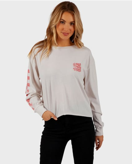 Good Times Long Sleeve Tee in Stone