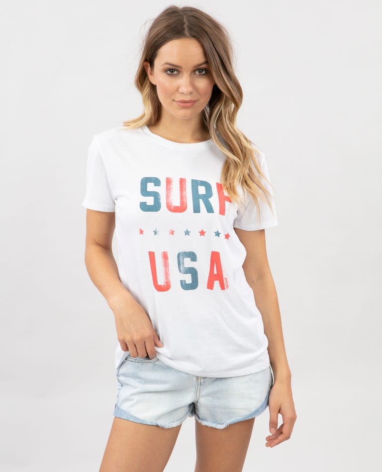 Surf USA Boy Tee in White