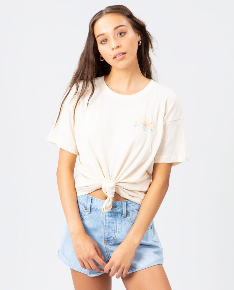 Sunset Sessions Oversized Tee in Off White