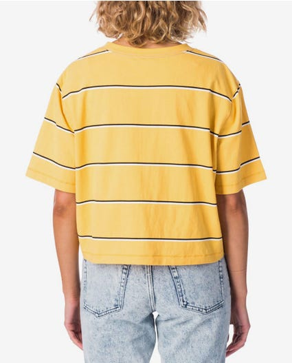 Oliver Crop Tee in Light Yellow