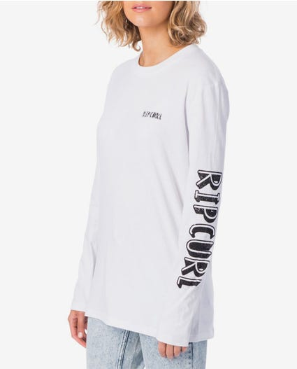 Heydays Long Sleeve Tee in White