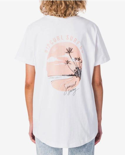 Sunset Sway Tee in White