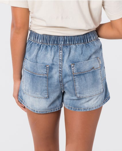 The Denim Short in Mid Blue
