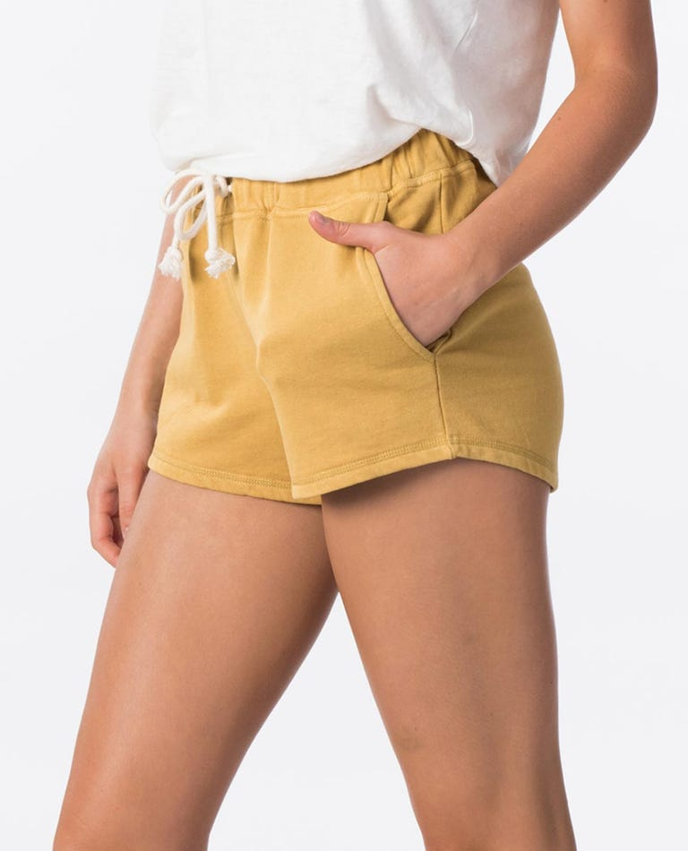 Organic Cotton Fleece Short in Gold