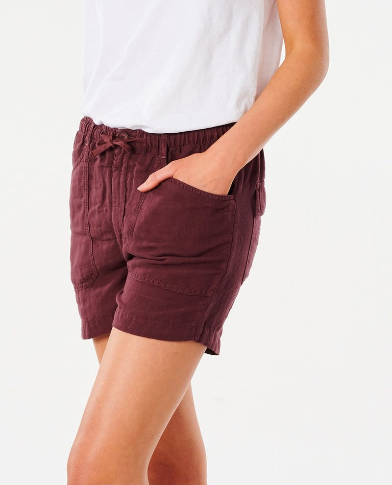Panoma Short in Maroon