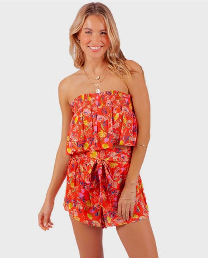 Meadowbrook Short in Bright Red