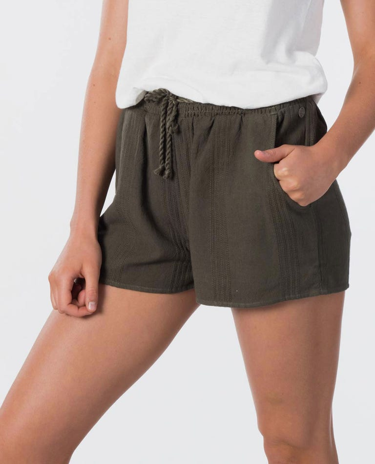 Wategoes Shirred Short in Olive