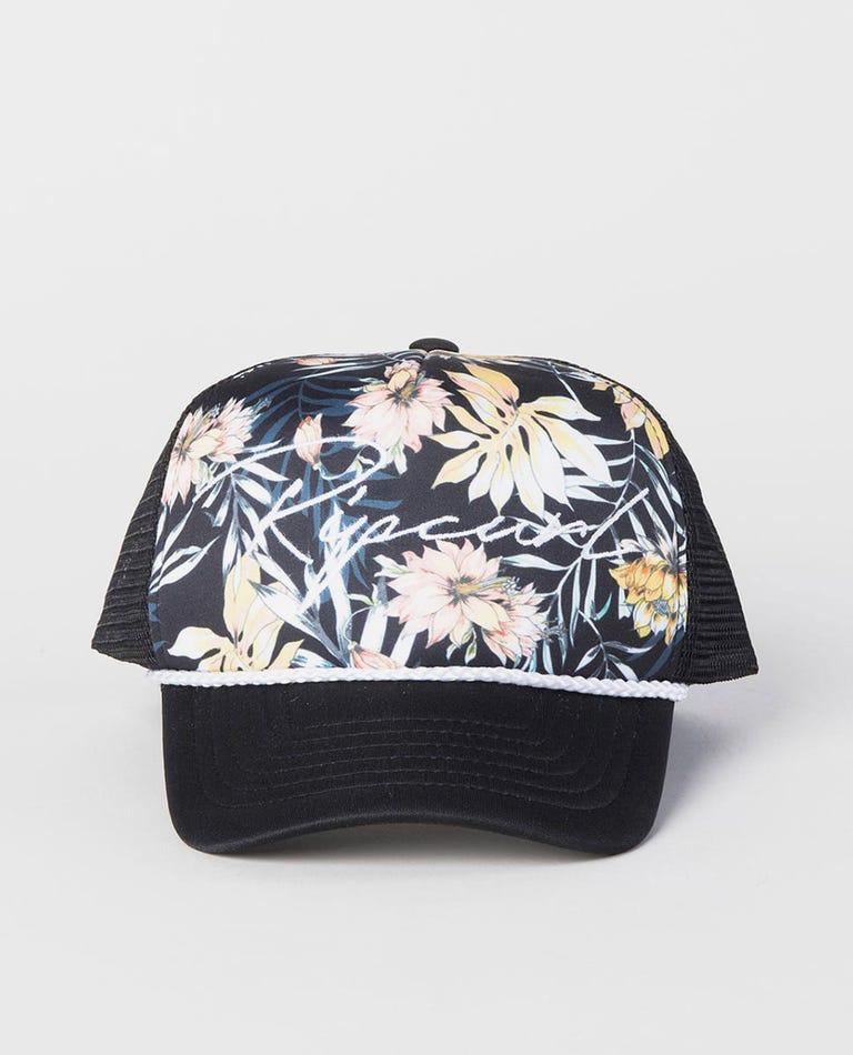 Girl Playa Trucker Cap in Black