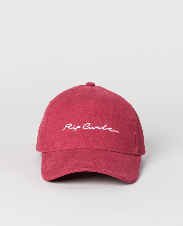 Girl Big Wave Cap in Rose Red