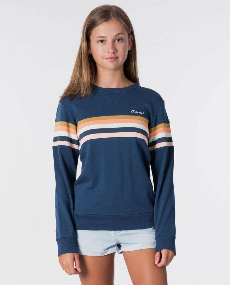 Girl Keep Surfin Fleece in Dark Blue