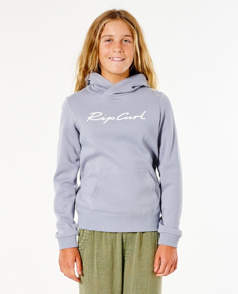 Script Hoody - Girls (8-16 years) in Blue Grey